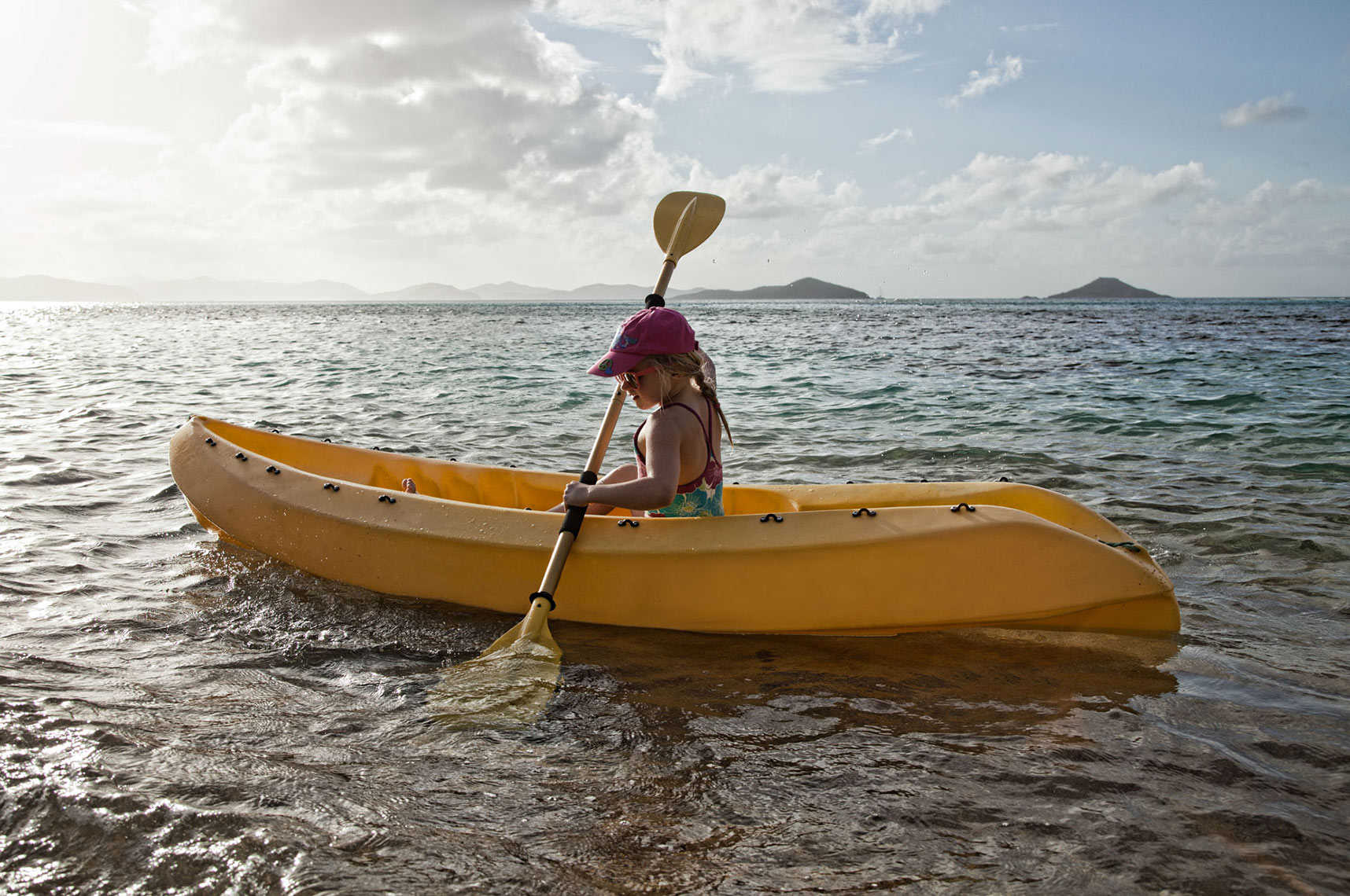 A-YOUNG-GIRL-PADDLING-A-KAYAK