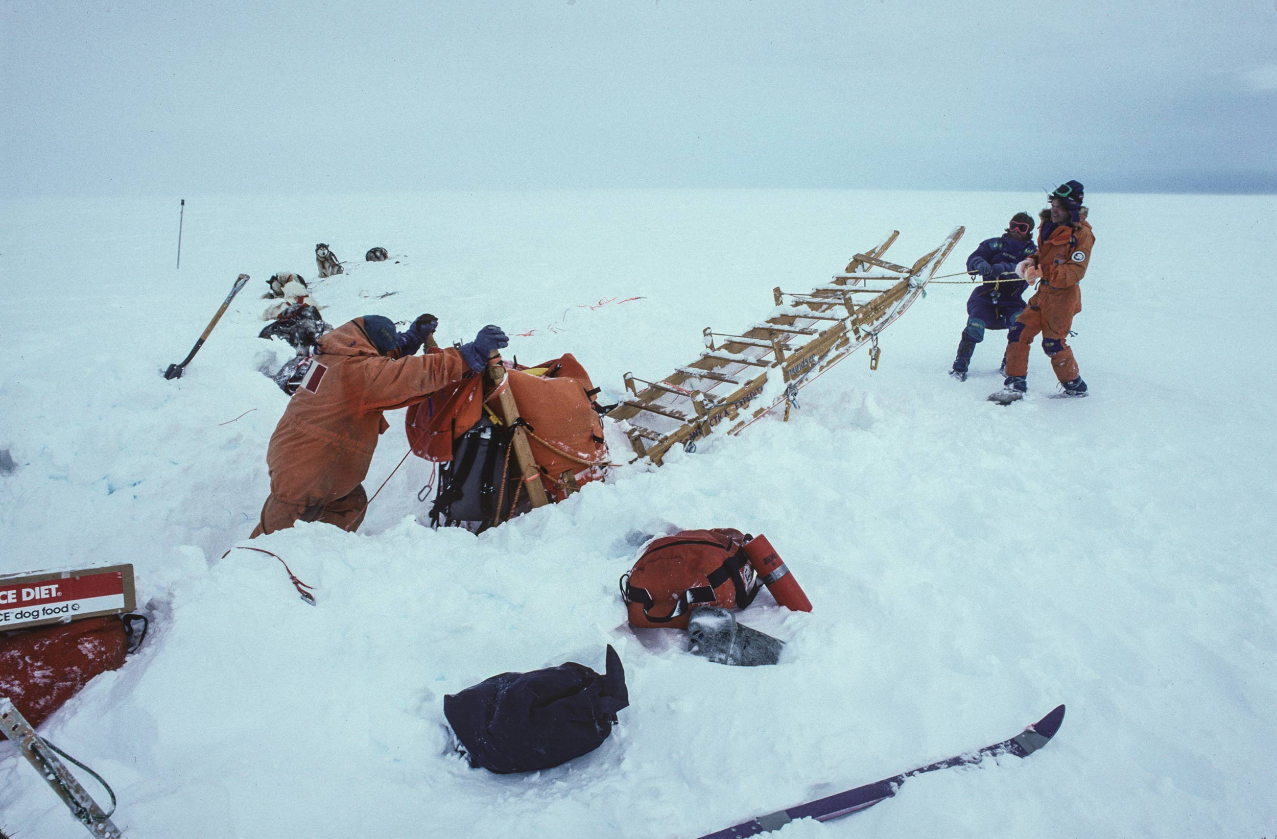 Trans-Antarctica-Expedition-digging-out-after-a-storm