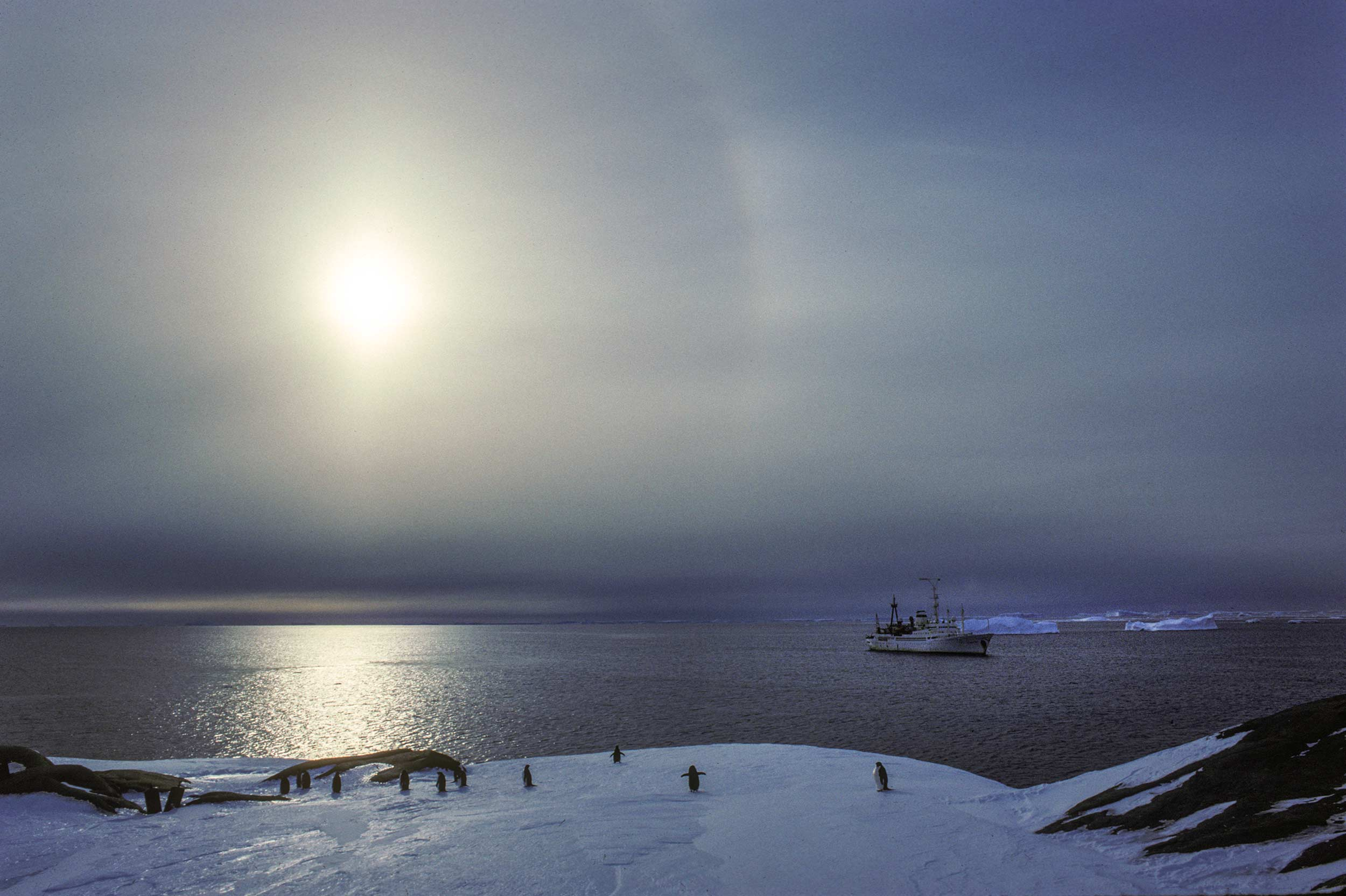 Trans-Antarctica-Expedition-ship-waiting-for-passengers